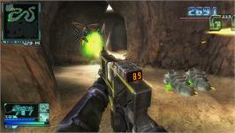 In game image of Onslaught on the Nintendo WiiWare.