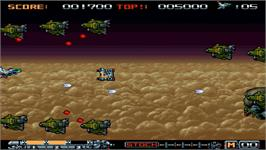 In game image of Phalanx on the Nintendo WiiWare.