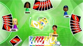 In game image of UNO on the Nintendo WiiWare.