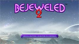 Title screen of Bejeweled 2 on the Nintendo WiiWare.