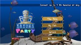 Title screen of Big Kahuna Party on the Nintendo WiiWare.