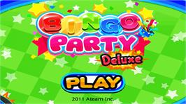 Title screen of Bingo Party Deluxe on the Nintendo WiiWare.