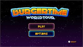 Title screen of BurgerTime World Tour on the Nintendo WiiWare.