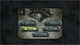 Title screen of Dracula - Undead Awakening on the Nintendo WiiWare.