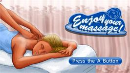 Title screen of Enjoy your Massage! on the Nintendo WiiWare.