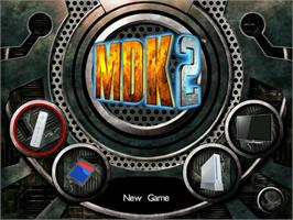 Title screen of MDK2 on the Nintendo WiiWare.