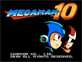 Title screen of Mega Man 10 on the Nintendo WiiWare.