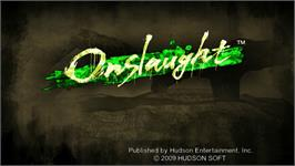 Title screen of Onslaught on the Nintendo WiiWare.