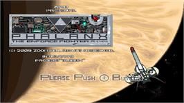 Title screen of Phalanx on the Nintendo WiiWare.