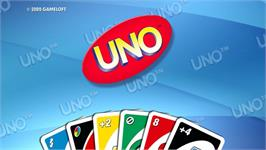 Title screen of UNO on the Nintendo WiiWare.
