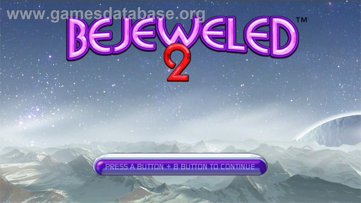 Bejeweled 2 - Nintendo WiiWare - Artwork - Title Screen