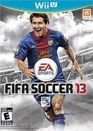 Box cover for FIFA Soccer 13 on the Nintendo Wii U.