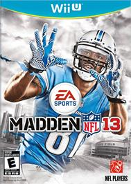 Box cover for Madden NFL 13 on the Nintendo Wii U.