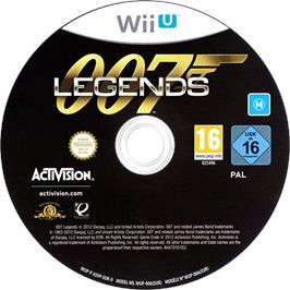 Artwork on the CD for 007 Legends on the Nintendo Wii U.