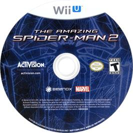 Artwork on the CD for Amazing Spider-Man 2, The on the Nintendo Wii U.