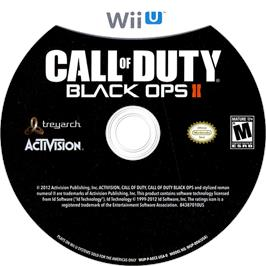 Artwork on the CD for Call of Duty - Black Ops II on the Nintendo Wii U.