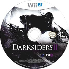 Artwork on the CD for Darksiders II on the Nintendo Wii U.