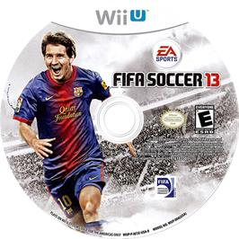 Artwork on the CD for FIFA Soccer 13 on the Nintendo Wii U.