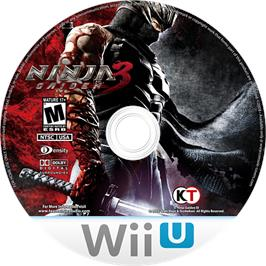 Artwork on the CD for Ninja Gaiden 3 - Razor's Edge on the Nintendo Wii U.