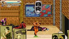 In game image of Art of Fighting - Beats of Rage Remix III on the OpenBOR.