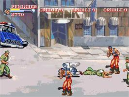 In game image of Captain Commando and the Avengers on the OpenBOR.
