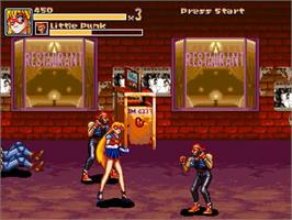 In game image of Code Name - Sailor V on the OpenBOR.