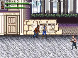 In game image of Double Dragon Advance on the OpenBOR.