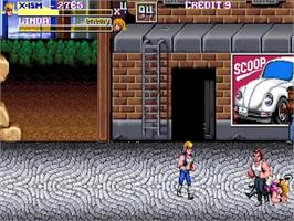 In game image of Double Dragon Extreme on the OpenBOR.