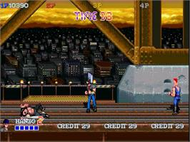 In game image of Double Dragon Gaiden on the OpenBOR.