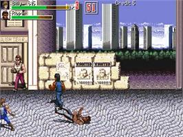 In game image of Double Dragon Genesis Final Cut on the OpenBOR.