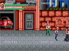 In game image of Double Dragon Revolution on the OpenBOR.