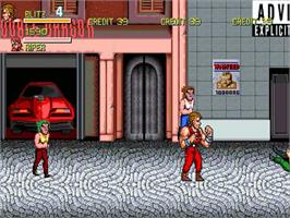 In game image of Double Dragon Revolution 2 on the OpenBOR.