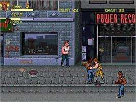 In game image of Double Dragon Revolution 3 on the OpenBOR.