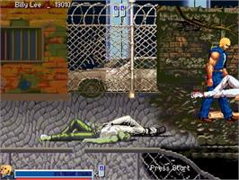 In game image of Double Dragon SNK Final Edition on the OpenBOR.