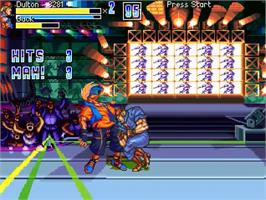 In game image of Double Dragon Zero on the OpenBOR.