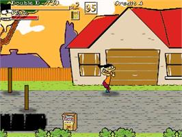In game image of Ed Edd n Eddy - Nightmare on Ed Street on the OpenBOR.