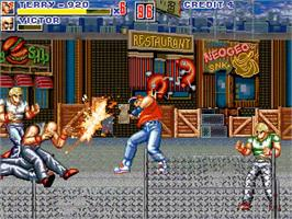 In game image of Fatal Fury ReBout on the OpenBOR.