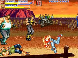 In game image of Fatal Fury ReBout 2 on the OpenBOR.