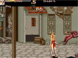 In game image of Final Fight - Last Round on the OpenBOR.