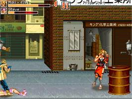 In game image of Final Fight Apocalypse - 1st Edition on the OpenBOR.