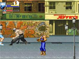 In game image of Final Fight Apocalypse - 2nd Edition on the OpenBOR.