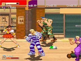 In game image of Final Fight DC Alteration on the OpenBOR.