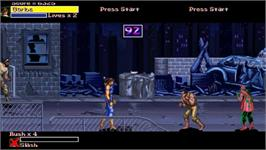 In game image of Final Fight Gold on the OpenBOR.