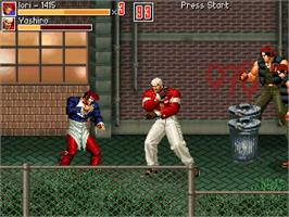 In game image of Final Fight vs The King Of Fighters - Episode 1 on the OpenBOR.