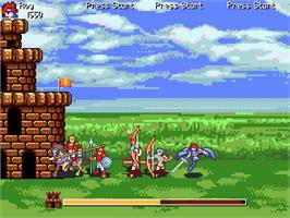 In game image of Fire Emblem - Castle Defense on the OpenBOR.