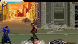 In game image of Garou - Rage of the Wolves on the OpenBOR.