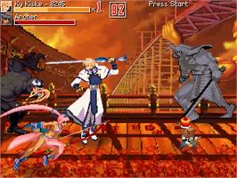 In game image of Guilty Gear - The Crusades on the OpenBOR.