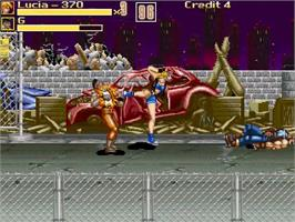 In game image of Hyper Final Fight 2 on the OpenBOR.