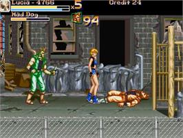 In game image of Hyper Final Fight 3 - Return of the Black on the OpenBOR.