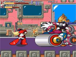 In game image of MegaMan - War of the Past on the OpenBOR.